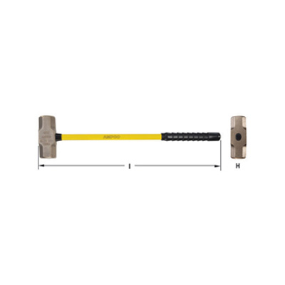 AMPCO Sledge Hammer with Fibreglass Handle