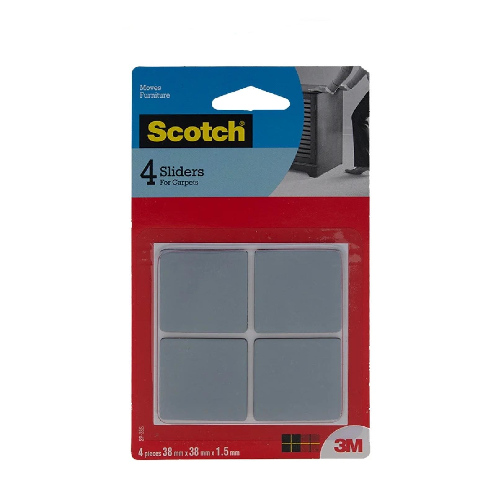 3M Scotch Slider Square 38MM X 38MM 4PC/Pack
