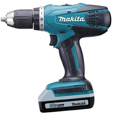 Makita HP457DWE 2 X 18V 1.5AH LI-ION 13MM Hammer Driver Drill