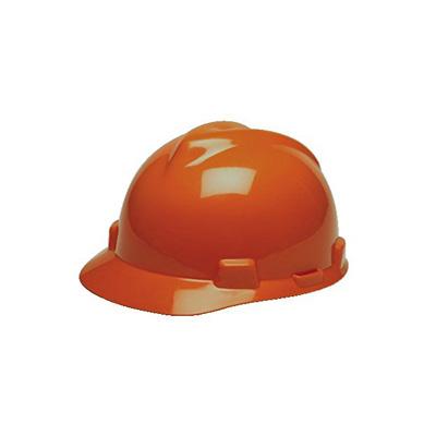 MSA USA Standard V-Gard, Slotted Cap Orange (Fas-Trac Suspension)
