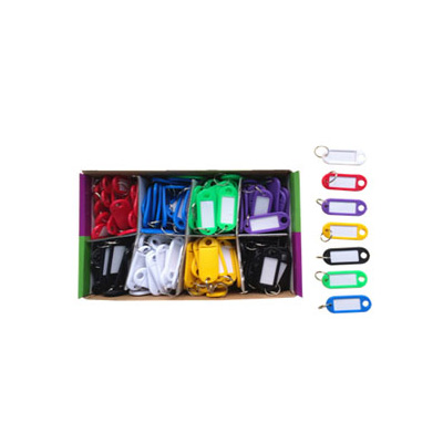 HardwareCity Multi-Colour Key Tags, 100PC/Box