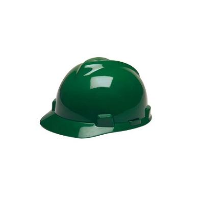 MSA USA Standard V-Gard, Slotted Cap Green (Fas-Trac Suspension)