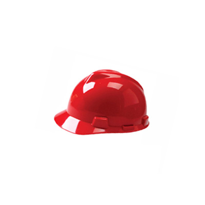 MSA USA Standard V-Gard, Slotted Cap Red (Fas-Trac Suspension)