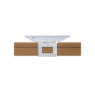 Shinwa 62114 Trapezoidal Stop Type Ruler Aluminium 45 Degrees Layout Miter