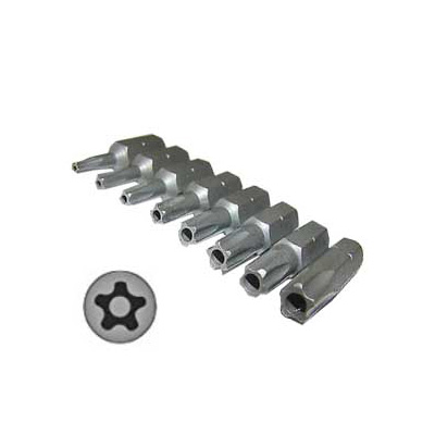 River Torx Star (5 Star) With Hole 9PC Set