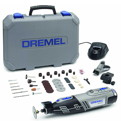Dremel DRE8220245 12V 2.0AH LI-ION, Rotary Tool C/W 2 Attachments And 45PC Accessories