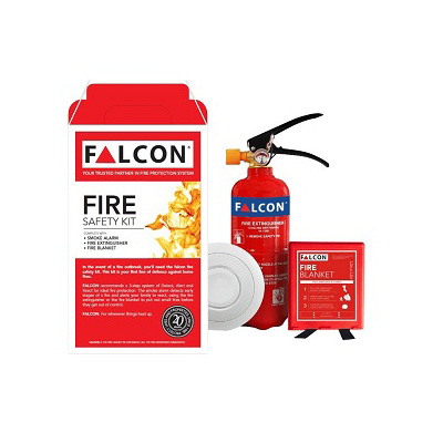 Falcon Premium 3-IN-1 Fire Safety Kit 2KG