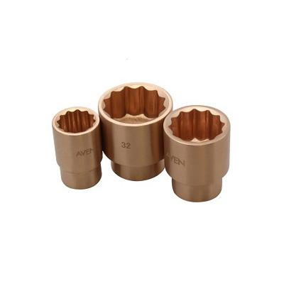WEDO Beryllium Copper, Non-Sparking, 1/2 DR Standard Sockets (Metric, MM)