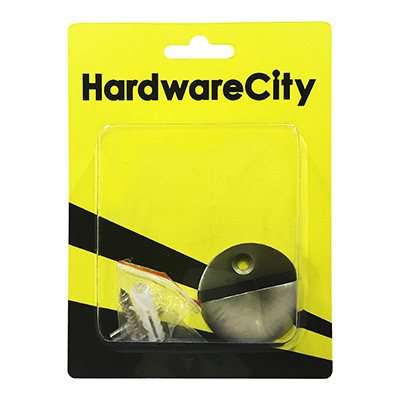 HardwareCity Dome Shape, Door Stopper With Rubber Padding