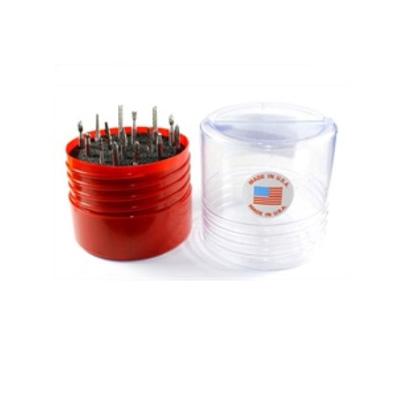 Browntool M100, Miniature 1/8 Shank Carbide Burr Set, 15PC/Set