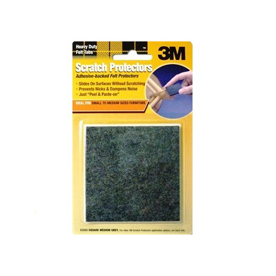 3M 8300G, Scratch Protector Square 27MM Grey, 9PC/Pack