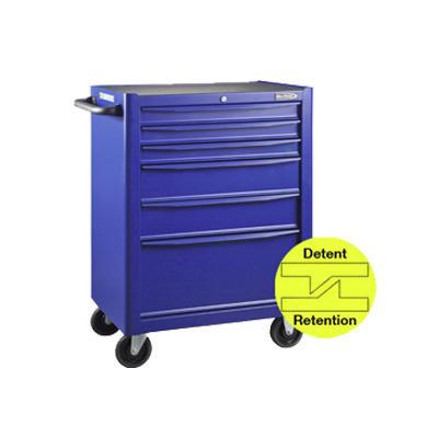 BluePoint KRB13006KPRB, 6 Drawers Roller Cabinet, Blue Matt