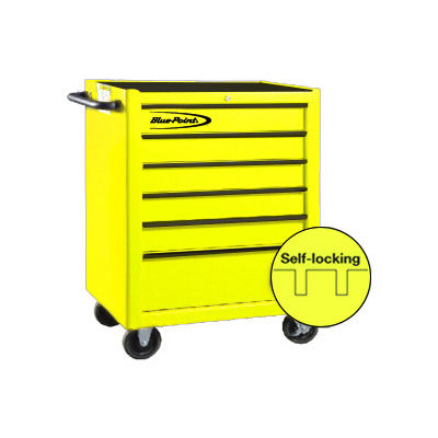 BluePoint KRB2006YEL, 6 Drawers Roller Cabinet, Yellow Gloss