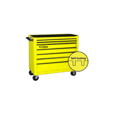 BluePoint KRB4007KPES, 7 Drawers Classic Roll Cabinet, Yellow Gloss