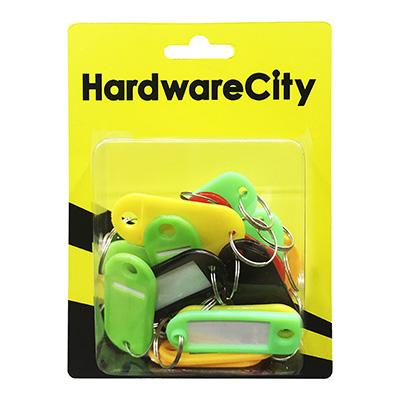 HardwareCity Multi-Coloured Key Tags, 20PC/Box