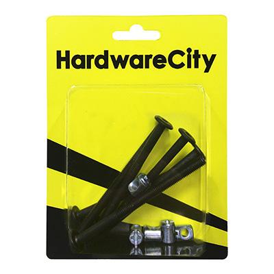 HardwareCity Furniture Bolt & Barrel Nut M6 X 90MM, 4PC/Pack