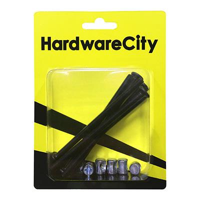 HardwareCity Furniture Bolt & Barrel Nut M6 X 100MM, 4PC/Pack