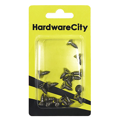 HardwareCity 10 X 1/2 Stainless Steel CSK Self Tapping Screws, 20PC/Pack