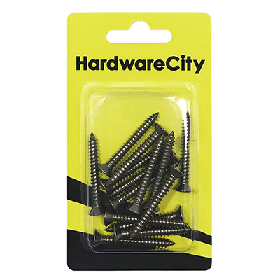 HardwareCity 10 X 38MM (1-1/2) Stainless Steel CSK Self Tapping Screws, 12PC/Pack
