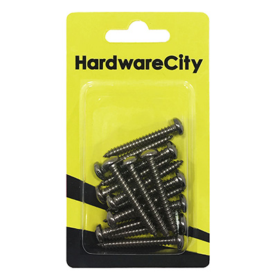 HardwareCity 10 X 38MM (1-1/2) Stainless Steel PH Pan Head Self Tapping Screws, 12PC/Pack