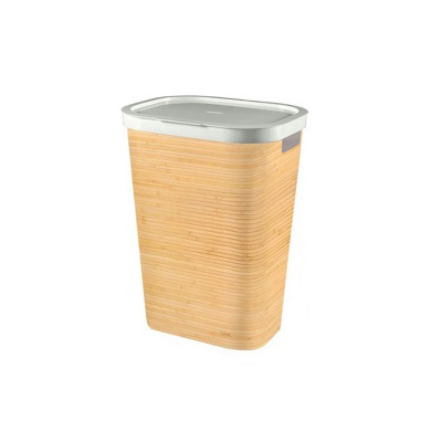 Curver Infinity Laundry Hamper With Lid 60L Bamboo Design