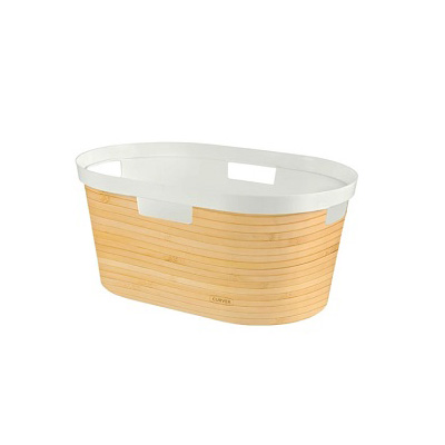 Curver Infinity Laundry Basket 40L Bamboo Design