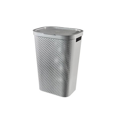 Curver Infinity Laundry Hamper With Lid 60L Dots Grey