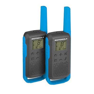 Motorola TLKR T62 Walkie Talkie (Twin Pack) Blue