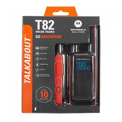 Motorola TLKR T82 Walkie Talkie TALKABOUT (Twin Pack)
