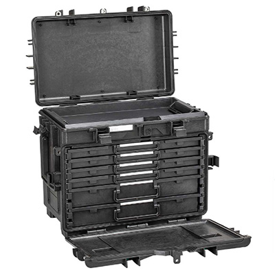 GT Explorer Case 5140X.B Mobility Trolley Tool Box Comes With 7 Sliding AIBOX Organizer