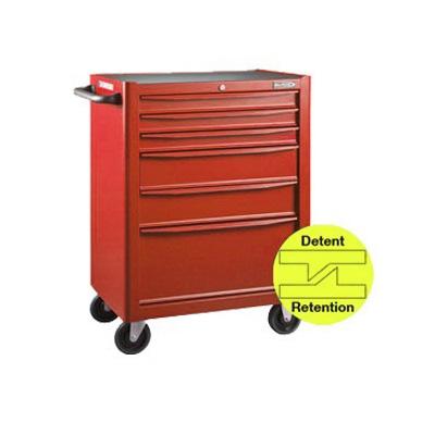 BluePoint KRB13006KPRR, 6 Drawers Roller Cabinet, Red Matt