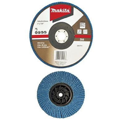 """Makita 7""""/180MM Flap Disc Economy Angled (Zirconia Aluminium)"""