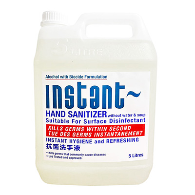 Instant Hand Sanitizer Without Water & Soap 5L - Alcohol with Biocide Formulation