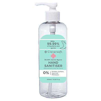 Cloversoft 99.99% Germs Bgone Hand Sanitizer 500ml