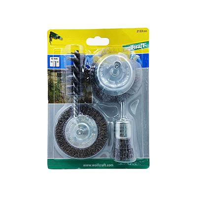 Wolfcraft 2133000, Steel Wire Brush Set