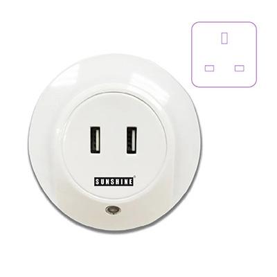 Sunshine Night Light With USB (3-Pin Plug In)
