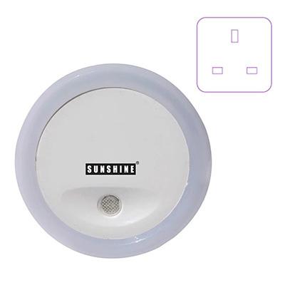 Sunshine LED Night Light With Motion Sensor (3-Pin Plug In)