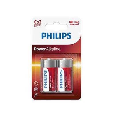 Philips Blister Pack 2 X C Power Alkaline Battery