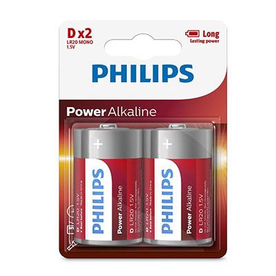 Philips Blister Pack 2 X D Power Alkaline Battery