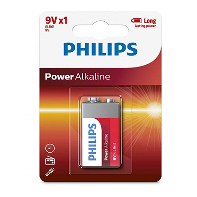Philips Blister Pack 9V Power Alkaline Battery