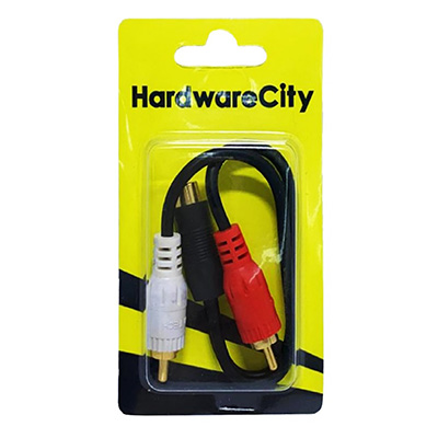 HardwareCity 2 X Male RCA Cable Stereo To Digital Audio Video Cable TV Connection