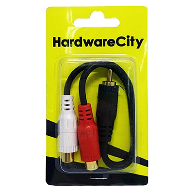 HardwareCity 2 X Female RCA Cable Stereo To Sound Jack