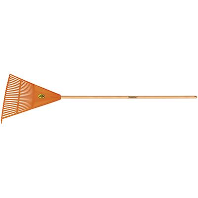 Tramontina Plastic Lawn/Leaf Rake 22 Teeth, Wood Handle 120 cm