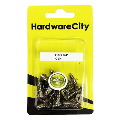 HardwareCity 10 X 3/4 Stainless Steel PH Pan Head Self Tapping Screws, 20PC/Pack