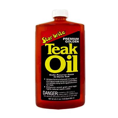 Starbrite Premium Teak Oil 1L (Long Lasting Protection)