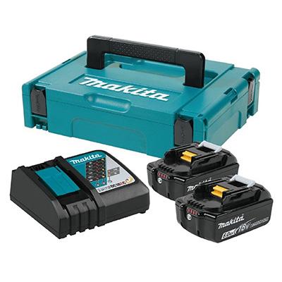 Makita MKP1RG182 2 X 18V 6.0AH LI-ION Battery & Charger Battery Pack