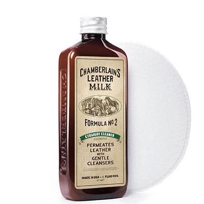 Chamberlains Leather Milk Straight Cleaner No. 2  6 Oz - Premium Leather Cleaner Cum Disinfectant