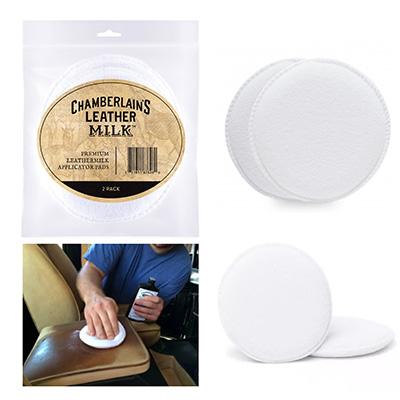 Chamberlains Leather Milk Premium Leather Milk Applicator Pads 2PC/Pack
