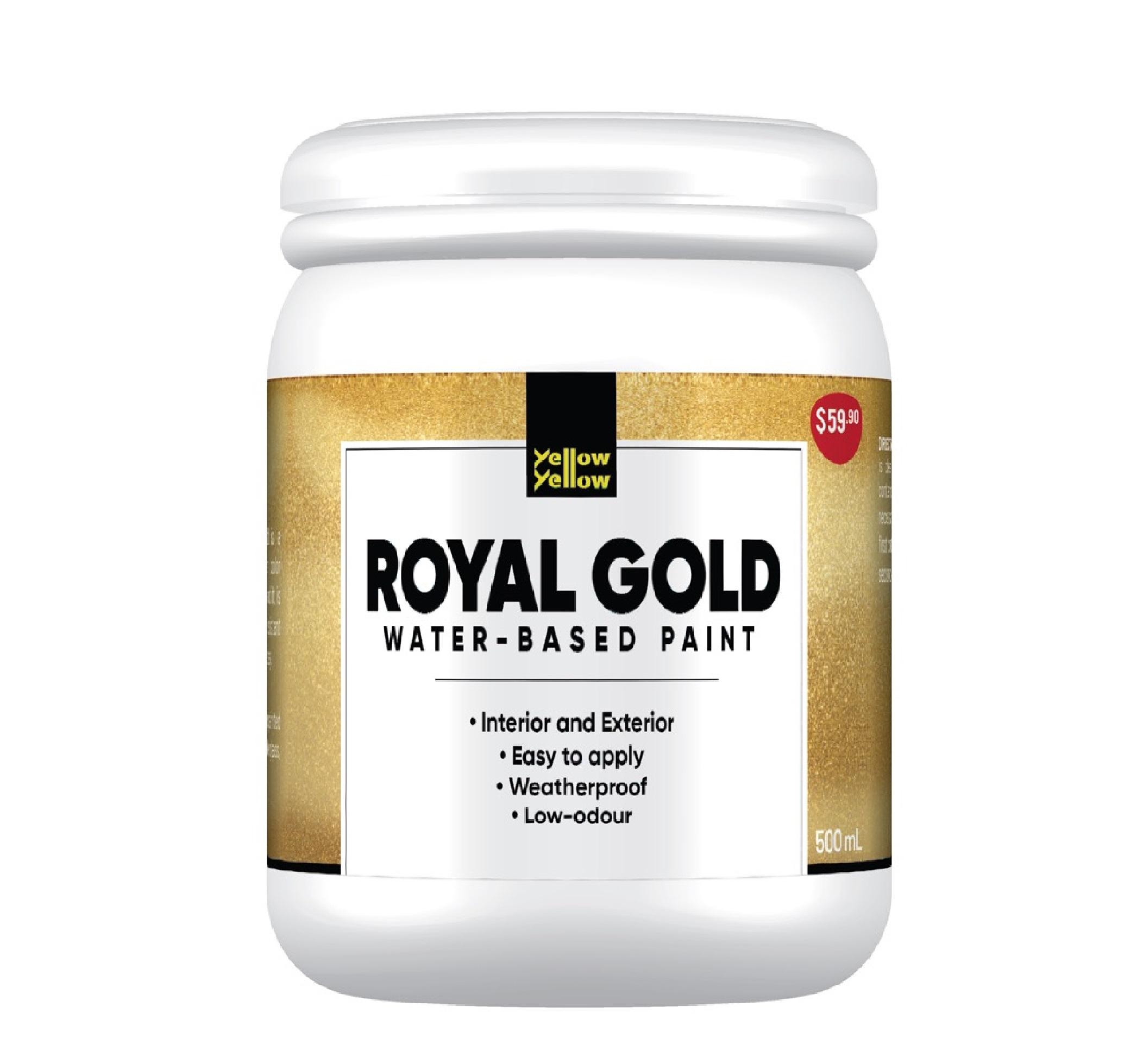 Yellowyellow HC-166 Royal Gold Water-based Low Odour Paint 500ML