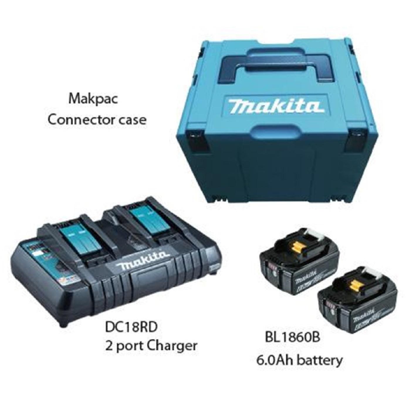 Makita MKP3PG182 2 X 18V 6.0AH LI-ION Power Source Kit